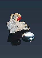 MERCURY &amp; RARE CRYSTAL CINNABAR<br /> Elemental Form &amp; HgS, Chief Ore Of Mercury.<br /> Elemental form &amp; HgS (Mercury sulfide) chief ore of mercury.