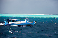 A Dhoni is one way to travel around the South Male and North Male Atolls, Maldives (Tuesday, June 16th, 2009). Photo: joliphotos.com