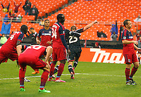 WASHINGTON, D.C - March 29 2014: Perry Kitchen  after scoring the second goal for D.C United during the D.C. United vs the Chicago Fire MLS match at RFK Stadium, in Washington D.C. The game ended in a 2-2 tie.
