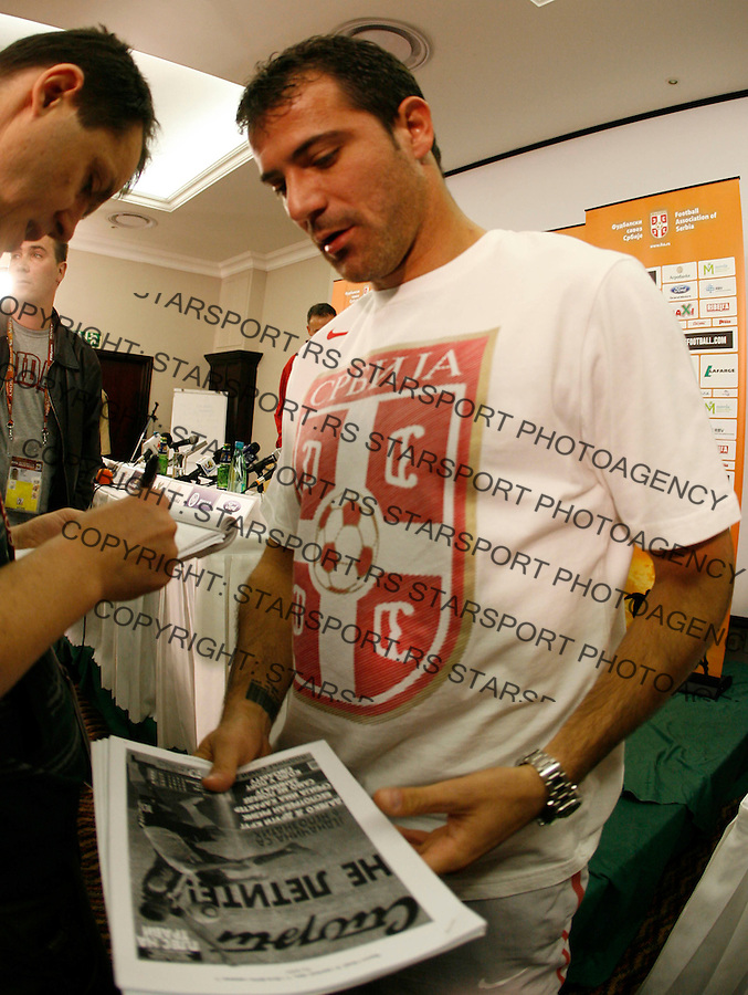 Dejan Stankovic Soccer Football - 2010 FIFA World Cup - Johannesburg, South Africa, Sunday, June 21. 2010. (credit & photo: Pedja Milosavljevic / +381 64 1260 959 / thepedja@gmail.com / STARSPORT )