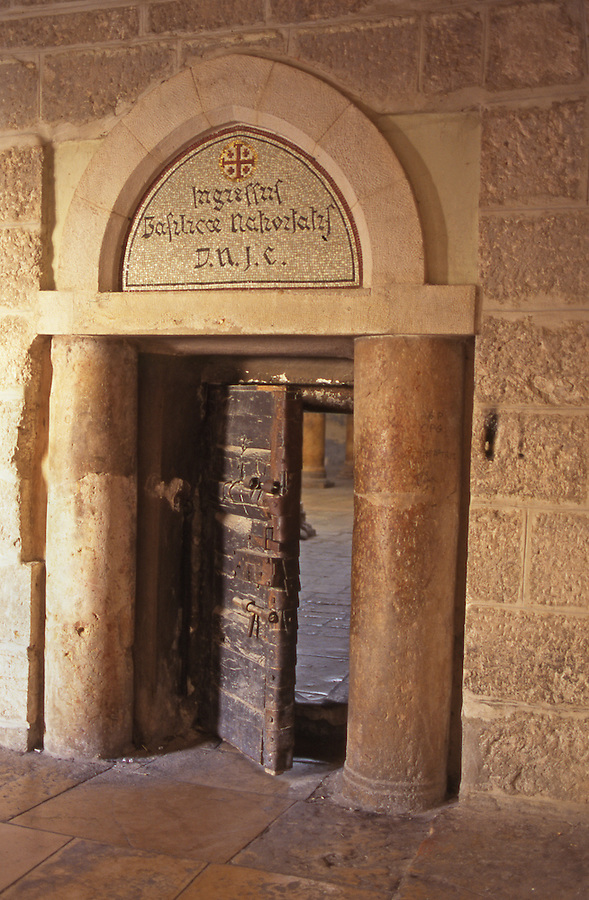 Door of bethlehem church of the nativity shows antiquity blair