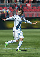 30 March 2013: Los Angeles Galaxy forward Mike Magee #18 in action during an MLS game between the LA Galaxy and Toronto FC at BMO Field in Toronto, Ontario Canada..The game ended in a 2-2 draw..