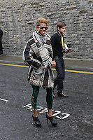 23/9/2010. Arthurs day. Kelis is pictured arriving at the Guinness Store House Dublin raise their glasses for Arthurs Day. Picture James Horan/Collins