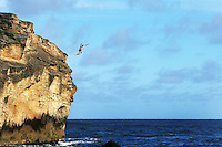 May 24, 2006; Kauai, HI, USA; A visitor makes the jump from Makawehi Point at Shipwreck Beach on the Hawaiian island of Kauai. Mandatory Credit: Photo by Marianna Day Massey/ZUMA Press. (©) Copyright 2006 by Marianna Day Massey
