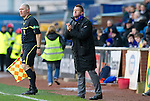Kilmarnock v St Johnstone....03.03.12   SPL.Steve Lomas applauds his players.Picture by Graeme Hart..Copyright Perthshire Picture Agency.Tel: 01738 623350  Mobile: 07990 594431
