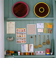 A detail of a collection of favourite objects