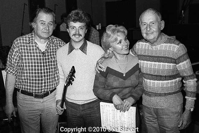 Bob Thiele, Martin Taylor, Teresa Brewer, Stephane Grappelli.Oct 22, 1981, Golden Gate Recording, San Francisco, 56-6
