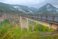 Bridge over Europe's deepest canyon, Tara River Canyon, MOntenegro, Western Balkans
