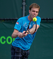 Sam QUERREY (USA) and Jeremy CHARDY (FRA) in the second round of the men's singles. Chardy beat Querrey 4-6 6-4 6-2..International Tennis - 2010 ATP World Tour - Sony Ericsson Open - Crandon Park Tennis Center - Key Biscayne - Miami - Florida - USA - Fri 26 Mar 2010..© Frey - Amn Images, Level 1, Barry House, 20-22 Worple Road, London, SW19 4DH, UK .Tel - +44 20 8947 0100.Fax -+44 20 8947 0117