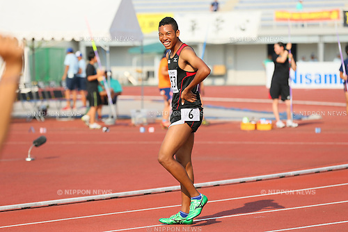 Abdul Hakim Sani Brown (), <br /> JULY 30, 2015 - Athletics : <br /> 2015 All-Japan Inter High School Championships, <br /> Men's 100m Final <br /> at Kimiidera Athletic Stadium, Wakayama, Japan. <br /> (Photo by YUTAKA/AFLO SPORT)