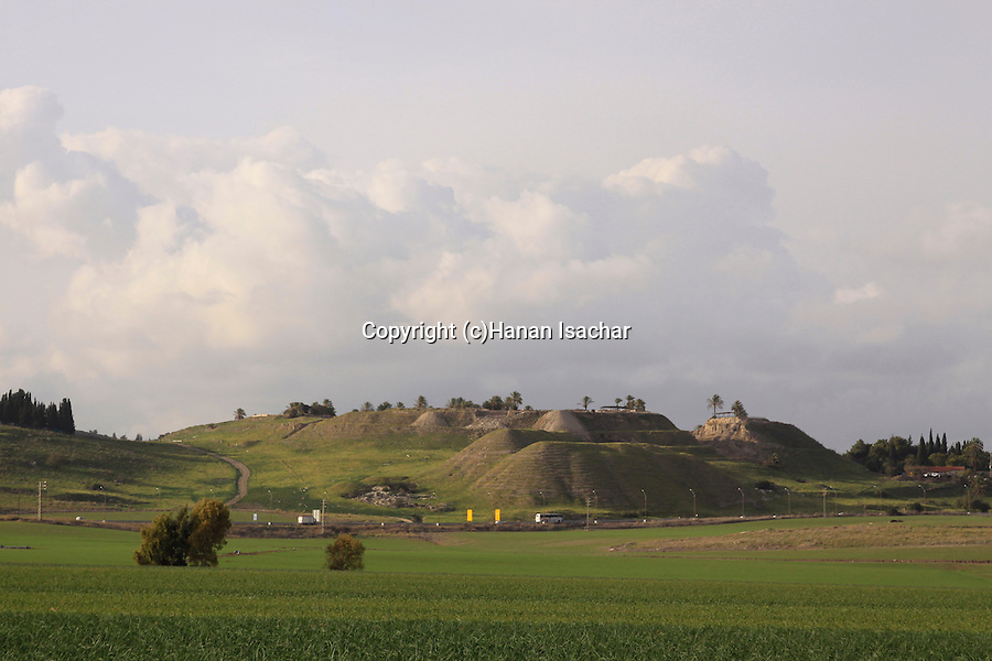 Israel, Jezreel valley, Tel Megiddo, a World Heritage Site.