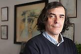 Der Bukarester Schriftsteller Mircea Cartarescu,  März 2015, bekommt den Preis der Leipziger Buchmesse.