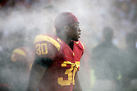 September 17, 2011: Trojans #30 D.J. Morgan on the sidelines during the first half of the NCAA College football game for the Big East Syracuse Orange visiting the Pac-12 USC Trojans for the first time since 1924 inside the Los Angeles Memorial Coliseum.