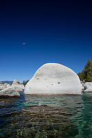 """Boulders at Lake Tahoe 9"" - These boulders were photographed from a kayak early in the morning at Lake Tahoe, near Speed Boat Beach."