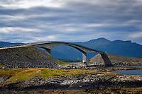 Storseisundet bru at Eide in Møre og Romsdal at the western coast of Norway. A bridge along the Atlanterhavsveien.