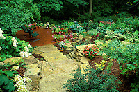 Landscape by Gay Bumgarner for private shade garden, Midwest