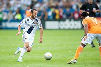 CARSON, CA-DECEMBER 1, 2012 -  Landon Donovan drives midfield during the 2012 MLS Cup Championship at the Home Depot Center in Carson, CA.  The LA Galaxy defeated the visiting Houston Dynamo 2-1 to repeat as Cup champions.