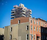 Residential construction in Williamsburg, Brooklyn in New York on Saturday, October 15, 2016. (© Richard b. Levine)