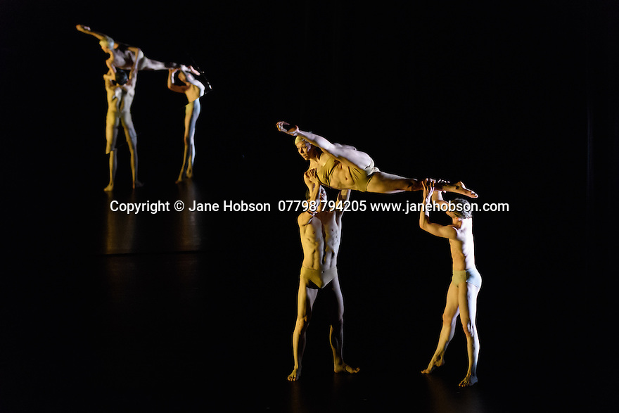 London, UK. 03.03.2017. Company Wayne McGregor/ Paris Opera Ballet presents TREE OF CODES, in its London premiere, at Sadler's Wells. TREE OF CODES is a collaboration by choreographer Wayne McGregor, artist Olafur Eliasson, and musician Jamie xx. The dancers are: Company Wayne McGregor - Catarina Carvalho, Travis Clausen-Knight, Alvaro Dule, Louis McMiller, Daniela Neugebauer, James Pett, Fukiko Takase, Po-Lin Tung, Jessica Wright; Paris Opera Ballet - Marie-Agnes Gillot, Jeremie Belingard, Lydie Vareilhes, Sebastien Bertaud, Julien Meyzindi, Lucie Fenwick. Photograph © Jane Hobson.