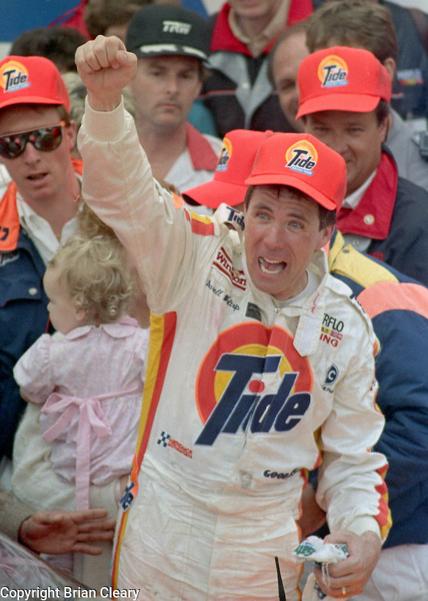 Darrell Waltrip victory lane Daytona 500 at Daytona International Speedway on February 19, 1989.  (Photo by Brian Cleary/www.bcpix.xom)