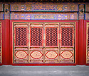BB01681-01...CHINA - Ornate doorway in the Forbidden city,