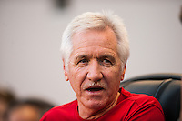 United States (USA) head coach Tom Sermanni. The women's national team of the United States defeated the Korea Republic 5-0 during an international friendly at Red Bull Arena in Harrison, NJ, on June 20, 2013.