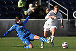 27 November 2010: Heather O'Reilly (USA) (right) and Laura Neboli (ITA) (6). The United States Women's National Team defeated the Italy Women's National Team 1-0 in the second leg of their 2011 FIFA Women's World Cup Qualifier playoff at Toyota Park in Bridgeview, Illinois. The U.S. won the series 2-0 on aggregate goals to advance.
