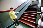Phyllis Addison Pollack, 90 years-old, laughs as she tours the hallways of her old highschool, which she attended during the Depression, at Victoria High School. Pollack, who graduated from the school in 1936, made the pilgrimage back to her old highschool while visiting the city of Victoria, British Columbia. Photo assignment for the Globe and Mail national newspaper in Canada.