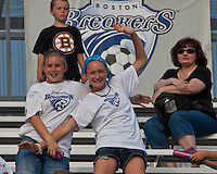 Boston Breakers Fans at Dilboy Stadium.  The Boston Breakers beat the Chicago Red Stars 1-0 at Dilboy Stadium.