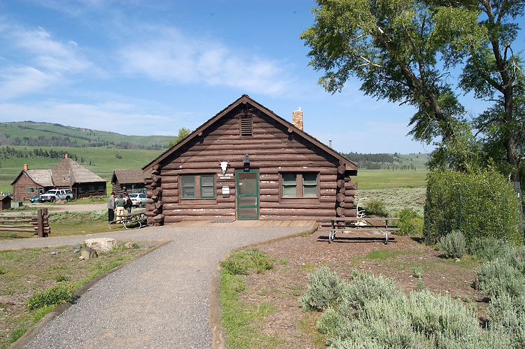 WY: Wyoming; Yellowstone National Park,.In the Lamar Valley, historic Buffalo Ranch where the bison were bred..Photo #: yellow1649.Photo copyright Lee Foster, 510/549-2202, lee@fostertravel.com, www.fostertravel.com..