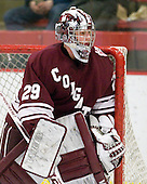 Eric Mihalik (Colgate - 29) - The Harvard University Crimson defeated the visiting Colgate University Raiders 6-2 (2 EN) on Friday, January 28, 2011, at Bright Hockey Center in Cambridge, Massachusetts.