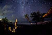 Night falls and the Milky Way shines ever so brightly in the southern sky above Balian.