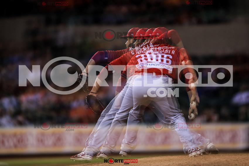 Garcia pitcher relevo de Mayos , durante partido3 de beisbol entre Naranjeros de Hermosillo vs Mayos de Navojoa. Temporada 2016 2017 de la Liga Mexicana del Pacifico.<br /> &copy; Foto: LuisGutierrez/NORTEPHOTO.COM