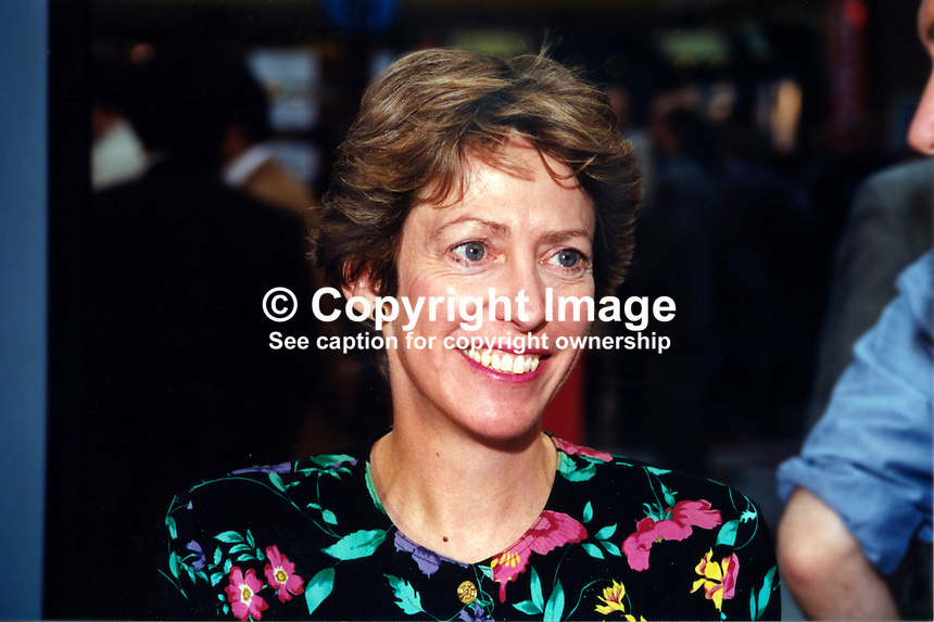 Patricia Hewitt, PPC, UK Labour Party. Subsequently MP and Minister. 19961005PH..Copyright Image from Victor Patterson, 54 Dorchester Park, Belfast, UK, BT9 6RJ..Tel: +44 28 9066 1296.Mob: +44 7802 353836.Voicemail +44 20 8816 7153.Skype: victorpattersonbelfast.Email: victorpatterson@mac.com.Email: victorpatterson@ireland.com (back-up)..IMPORTANT: If you wish to use this image or any other of my images please go to www.victorpatterson.com and click on the Terms & Conditions. Then contact me by email or phone with the reference number(s) of the image(s) concerned.