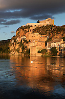 Miravet, Ribera d'Ebre, Tarragona, Spain. The village and the castle were founded by the Moors and rebuilt by the Knights Templar and transformed into a fortress-monastery, after the conquest of 1153. Picture by Manuel Cohen