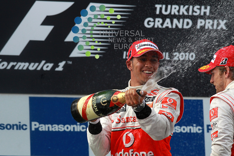 F1 GP of Turkey, Istanbul 27.- 30. May 2010.Podium - Lewis Hamilton (GBR), McLaren F1 Team .Picture: Hasan Bratic/Universal news and sport (Europe) 30 May 2010.