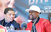 Floyd Mayweather Jr &amp; Frank Warren press conference at The Savoy Hotel, London, Great Britain <br /> 7th March 2017 <br /> <br /> <br /> <br /> Gervonta Davis <br /> (an American professional boxer who has held the IBF junior lightweight title since January 2017)<br /> <br /> Floyd Joy Mayweather Jr. is an American former professional boxer who competed from 1996 to 2015 and currently works as a boxing promoter. <br /> <br /> 