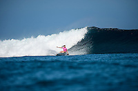 Namotu Island Resort, Nadi, Fiji (Sunday, May 29 2016): Courtney Conlogue (USA) The  2016 Fiji Women's Pro commenced at 8 am this morning in clean 3'-4' waves at Cloudbreak. Round One was completed in near perfect conditions with just a slight offshore wind before the contest was called off for the day. Photo: joliphotos.com