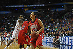 Ole Miss' Marshall Henderson (22) vs. Florida in the SEC championship game at Bridgestone Arena in Nashville, Tenn. on Sunday, March 17, 2013.