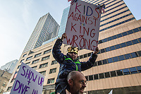 NEW YORK, NY - JANUARY 21: A little boy holds a sign during  the Women's March in New York City on January 21, 2017. Protesters in the United States and around the world are joining marches Saturday to raise awareness of women's rights and other civil rights they fear could be under threat under Donald Trump's presidency. Photo by VIEWpress/Maite H. Mateo.