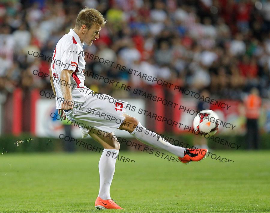 Fudbal Super liga season 2013-2014<br /> Napredak v Crvena Zvezda <br /> Nemanja Janicic<br /> Krusevac, 24.08.2013.<br /> foto: Srdjan Stevanovic/Starsportphoto &copy;