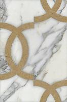 Name: Seine<br /> Style: Contemporary<br /> Product Number: CB0837<br /> Description: Seine in Calacatta Tia, Renaissance Bronze (p)