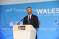 Celtic Manor Resort, Newport, South Wales<br /> <br /> USA President Barack Obama<br /> <br /> Photographer: Jeff Thomas - Jeff Thomas Photography - 07837 386244/07837 216676 - www.jaypics.photoshelter.com - swansea1001@hotmail.co.uk