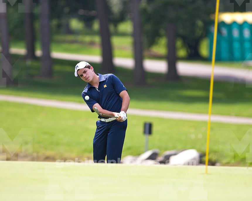 The University of Michigan men's golf team finished in sixth place at the Wolverine Intercollegiate at the University of Michigan Golf Course in Ann Arbor on Tuesday, September 13, 2011.