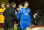 Motherwell v St Johnstone...10.11.10  .Dave Mackay trudges off injured.Picture by Graeme Hart..Copyright Perthshire Picture Agency.Tel: 01738 623350  Mobile: 07990 594431