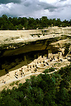 Colorado: Mesa Verde National Park, Cliff Palace, comesa102  .Photo copyright Lee Foster, 510/549-2202,  lee@fostertravel.com, www.fostertravel.com