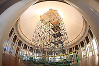 Scaffolding inside the Rotunda at the University of Virginia in Charlottesville, VA. Photo/Andrew Shurtleff