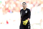 10 November 2013: Hope Solo (USA). The United States Women's National Team played the Brazil Women's National Team at the Citrus Bowl in Orlando, Florida in an international friendly soccer match. The U.S. won the match 4-1.