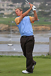 Bobby Clampett at the 7th Tee at Pebble Beach Golf Links. First TEE OPEN