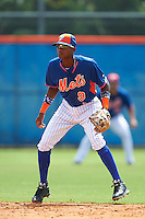 New York Mets shortstop Hansel Moreno (9) during an Instructional League game against the Miami Marlins on September 29, 2016 at the Port St. Lucie Training Complex in Port St. Lucie, Florida.  (Mike Janes/Four Seam Images)